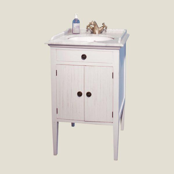 Gustaviansk bad potteskap med 1 vask