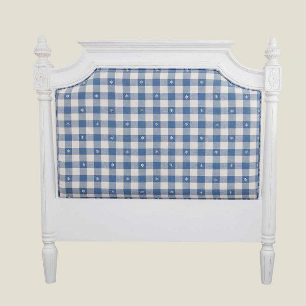 Gustaviansk sengegavl m/tekstil 90cm