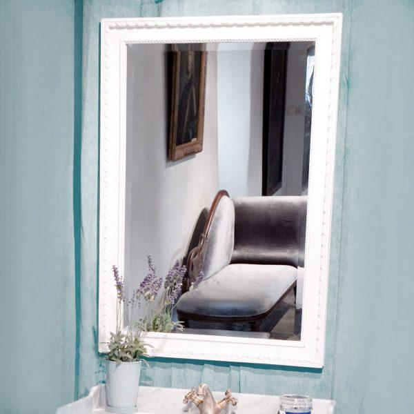 Gustaviansk speil til bad 1 vask
