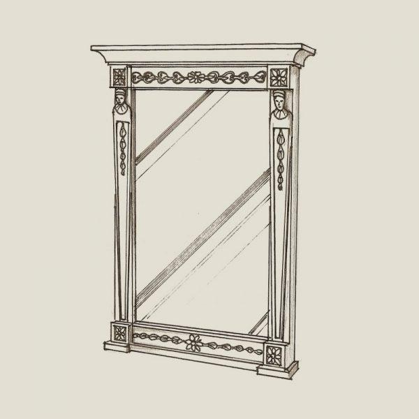 Sengustaviansk speil Face