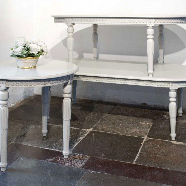 Gustaviansk ovalt sofabord 125 cm