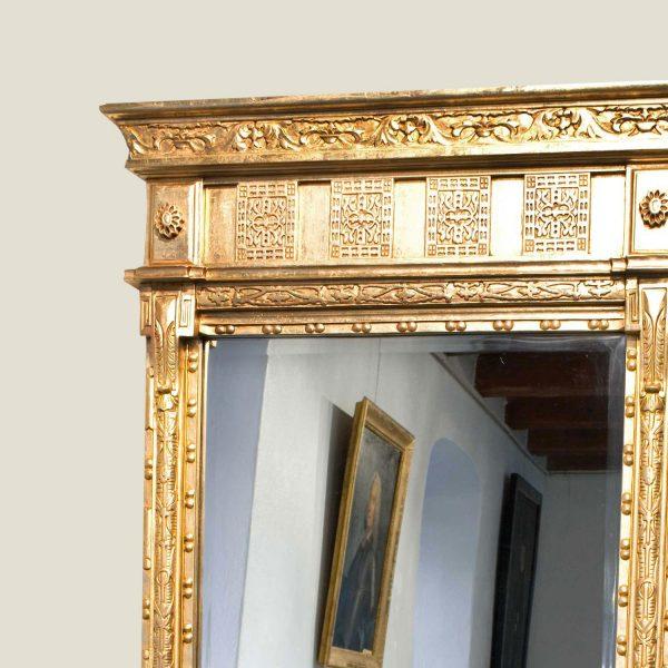 Sengustaviansk speil, gulvmodell